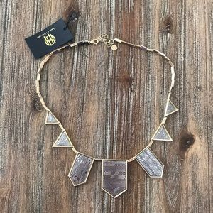 NWT House of Harlow Geometric Statement Necklace
